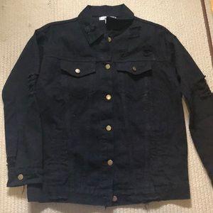 Macy's black jeans jacket